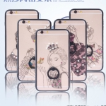 เคส iPhone 6 / 6s พลาสติกโปร่งใสสกรีนลายผู้หญิงประดับครอสตัลสุกวิ้งสวยงาม พร้อมแหวานในตัว ราคาถูก