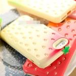เคสไอโฟน5 เคสสตรอเบอร์รี ซิลิโคนเงาๆ ดูหวานๆ น่ารักๆ strawberries Silicone 3D