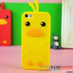 case iphone 5 เคสไอโฟน5 เคสซิลิโคน 3D รูปไก่ตาโตน่ารักๆ Korean Apple iPhone 5 cartoon silicone 3D cute chicks [เจ้าเป็ดคิอิโระอิโทะริ 3D Kiiroitori silicone (เพื่อนของ Rilakkuma)]