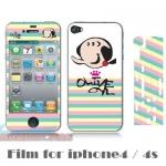 film iphone 4/4s ฟิล์มกันรอยไอโฟน4/4s ฟิล์มกันรอยหน้าหลังและด้านข้าง ลายการ์ตูนน่ารักๆ เด็กชาย - หญิง โอลีฟ มิเนี่ยน ราคาถูก