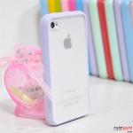 case iphone 4s 4 เคสไอโฟน4s 4 เคสสีหวานขอบซิลิโคนด้านหลังด้านโปร่งแสง TPU + pc TPU case silicone frosted translucent outer soft