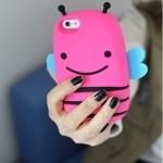 case iphone 4/4s เคสไอโฟน4/4s เคสผึ้งน้อยตัวอ้วนๆ น่ารักๆ silicone 3D