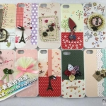 case iphone 5 เคสไอโฟน5 เคสแปะประดับผ้าและของจุกจิกน่ารักหวานแหวว HAPPYMORI Korean fashion