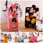 case iphone 5 เคสไอโฟน5 Disney donald duck minnie mouse mickey mouse winnie the pooh chip piglet ซิลิโคน 3D