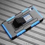 เคส Sony Xperia M4 Aqua เคสกันกระแทก สวยๆ ดุๆ เท่ๆ แนวถึกๆ อึดๆ แนวทหาร เดินป่า ผจญภัย adventure เคสแยกประกอบ 3 ชิ้น ชั้นในเป็นยางซิลิโคนกันกระแทก ครอบด้วยแผ่นพลาสติกอีก1 ชั้น กาง-หุบขาตั้งได้ มีปลอกฝาหน้าแบบสวมสไลด์ ใช้หนีบเข็มขัดเพื่อพกพาได้