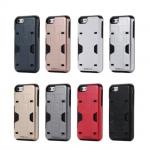 เคส iPhone 7 เคสกันกระแทกแยกประกอบ 2 ชิ้น ด้านในเป็น TPU สีดำ ด้านนอกพลาสติกเคลือบเงาโลหะเมทัลลิค ราคาถูก