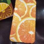 เคส iphone 6 plus 5.5 นิ้ว พลาสติกสกรีนลายส้มน่ากินมากๆ ราคาถูก ราคาส่ง ราคาปลีก
