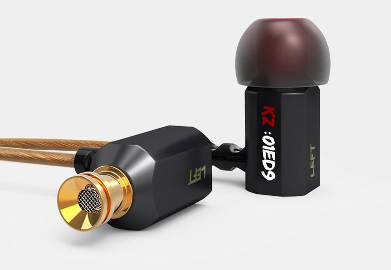 ขายหูฟัง KZ ED9 หูฟังเสียงดี เปลี่ยนท่อเสียงปรับเบสได้ มี 2 สี