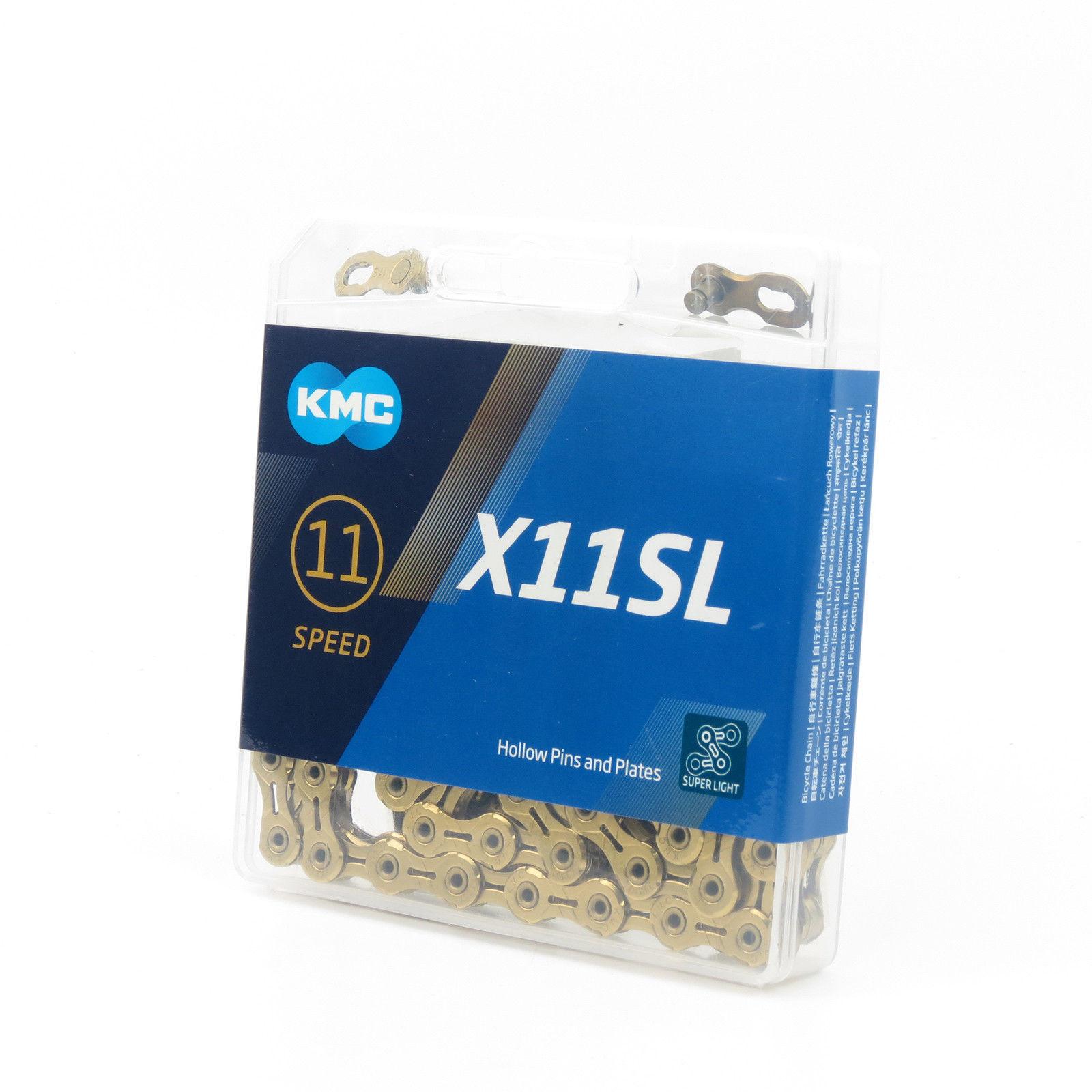 116L KMC X11SL EL 93 11 Speed MTB Road Bike 1//2/'/' x 11//128/'/' Chain Silver Gold