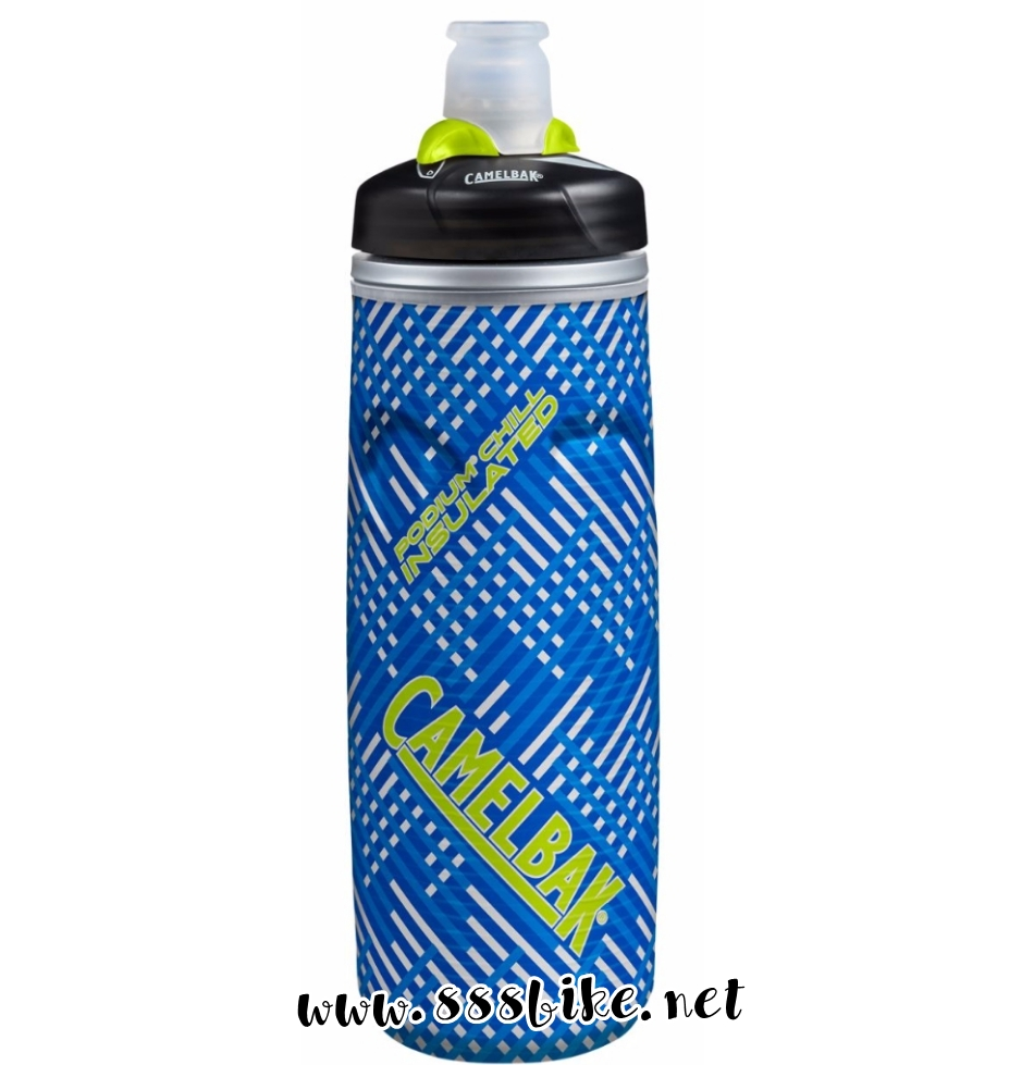 CAMELBAK PODIUM ICE 21oz BICYCLE WATER BOTTLE WHITE//BLUE