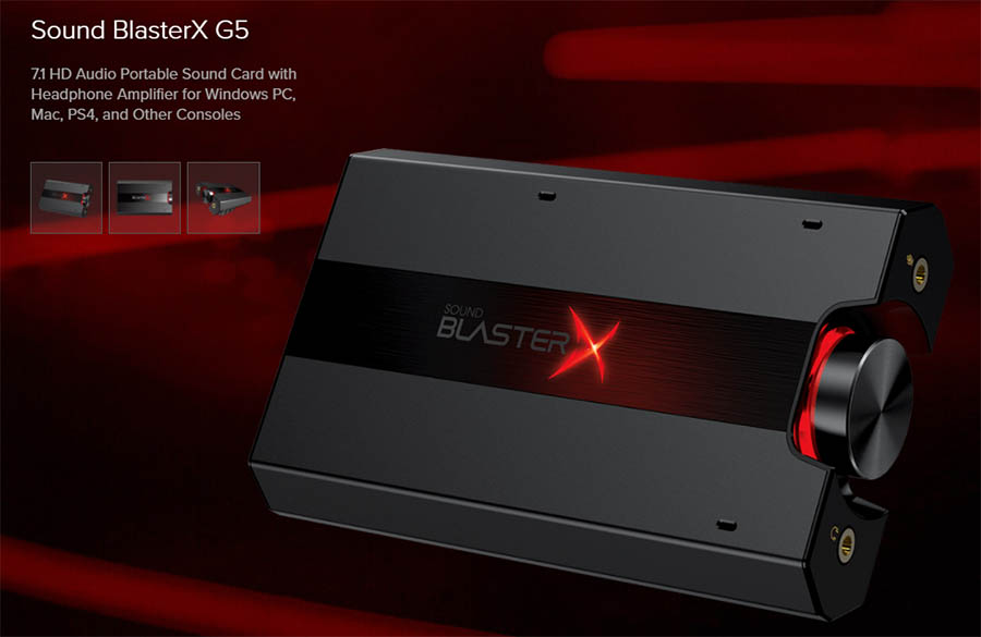 Creative Sound BlasterX G5 7 1 External USB Soundcard รองรับทั้ง Windows  PC, Mac, PS4, and Other Consoles