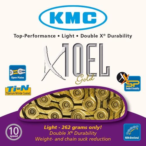 NEW KMC X10 Chain 10 Speed 116 Links Ti Nitride Gold