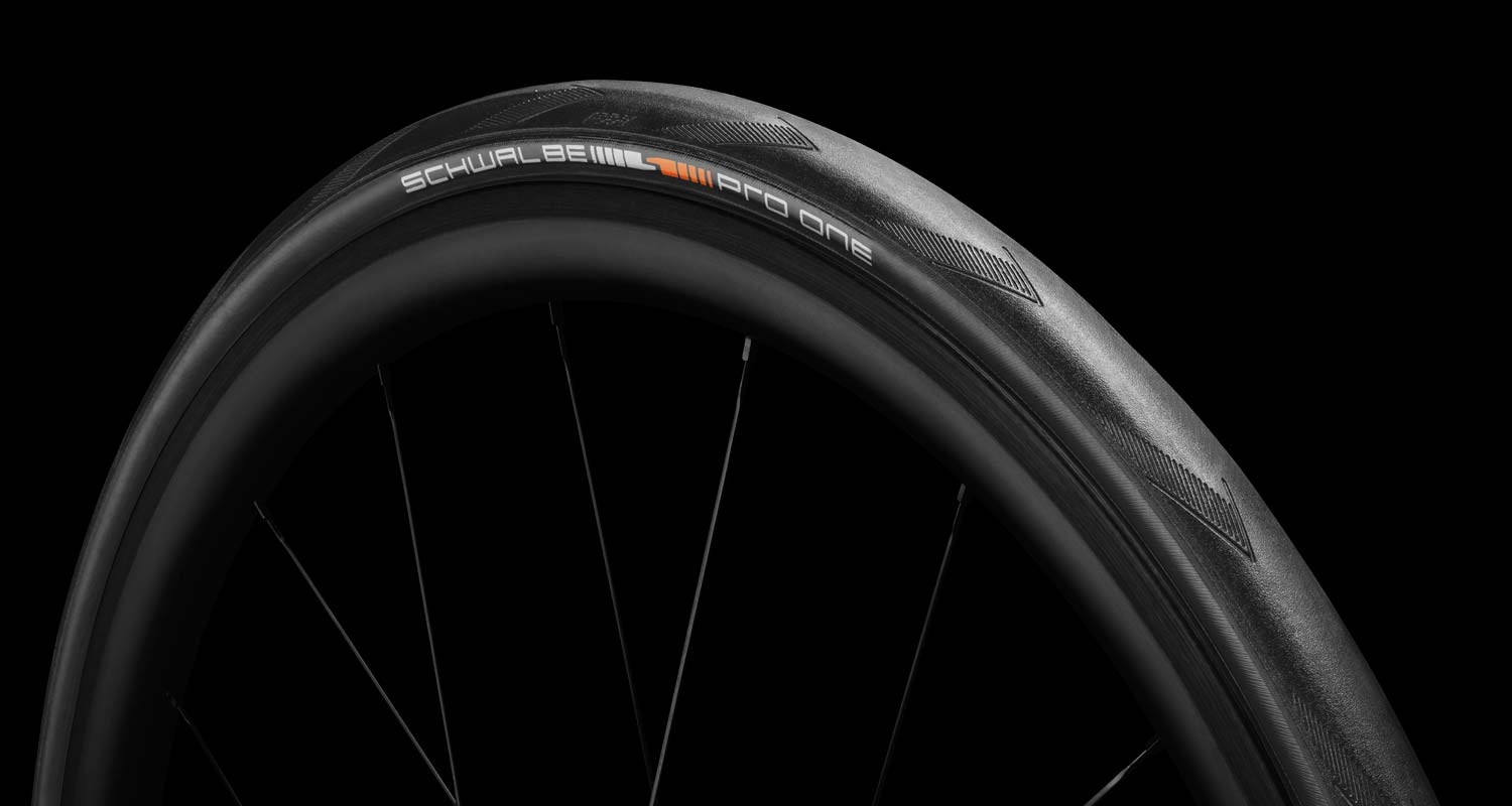 2 tires Schwalbe PRO ONE 2019 tubeless clincher 700 x 28 all black