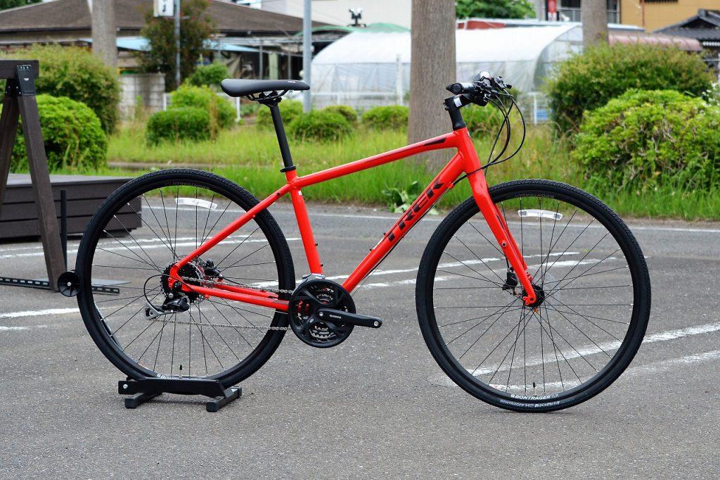 905962102b9 จักรยานไฮบริด TREK FX3 DISC,27สปีด ดิสน้ำมัน เฟรมอลู ตะเกียบคาร์บอน ปี 2019  มีเฉพาะสีแดง